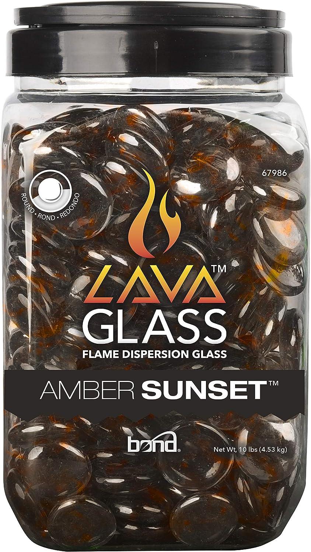 Amber Sunset Bond Manufacturing Mini Fire Pit Dispersion Glass