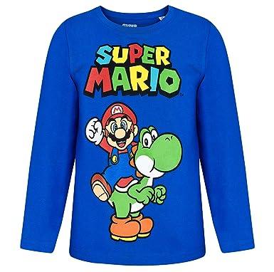 neueste kaufen verschiedene Stile baby Unbekannt Super Mario Langarmshirt Marine blau