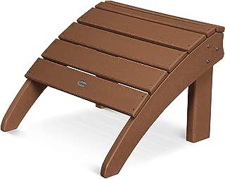 product image for POLYWOOD SHO22TE Seashell Adirondack Chair Ottoman, Teak