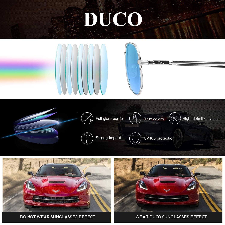 Duco Cool Piloto vidrios gafas de sol clásico unisex gafas piloto espejo UV400 filtro categoría 3 CE 3025K: Amazon.es: Ropa y accesorios