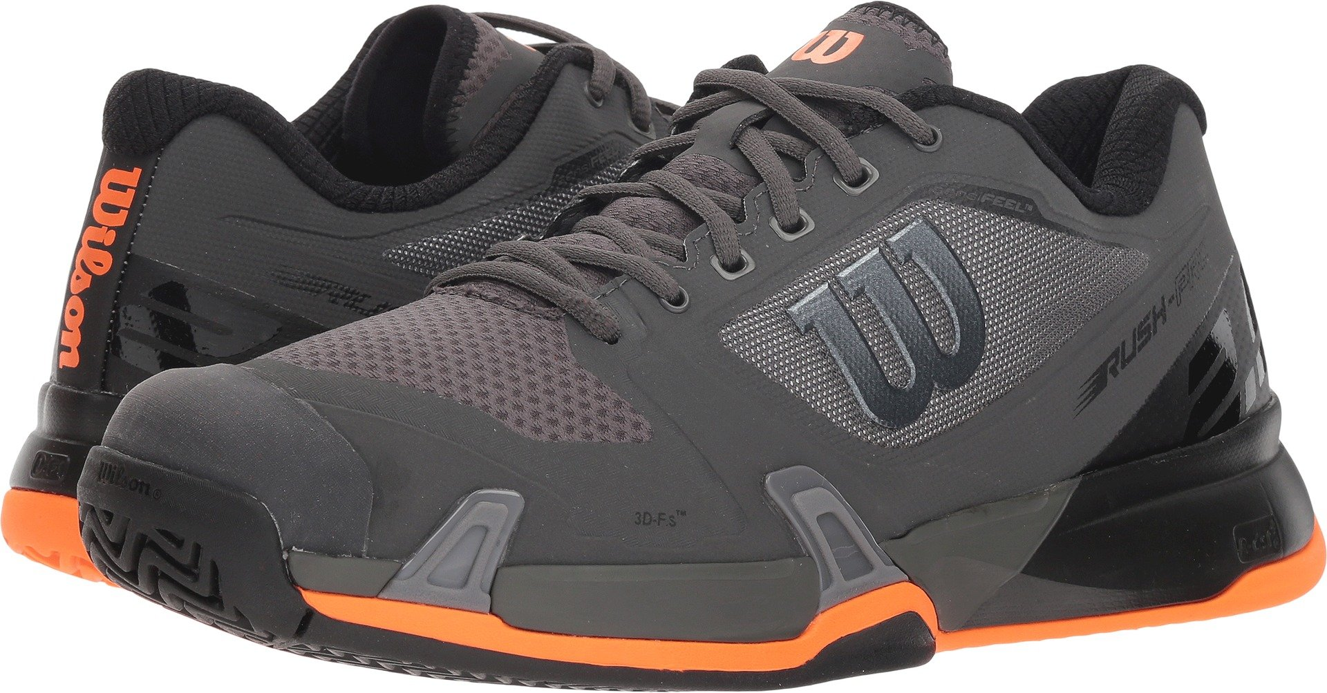 Wilson Men's Rush Pro 2.5 Magnet/Black/Shocking Orange (Platform) 7 D US by Wilson (Image #1)