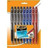 BIC BU3 Grip Retractable Ball Pen, Medium Point (1.0mm), Black, 18-Count
