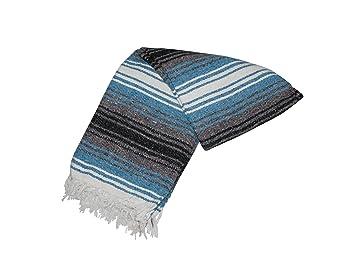 Canyon Creek Mexican Style Falsa Yoga Blanket (Blue)