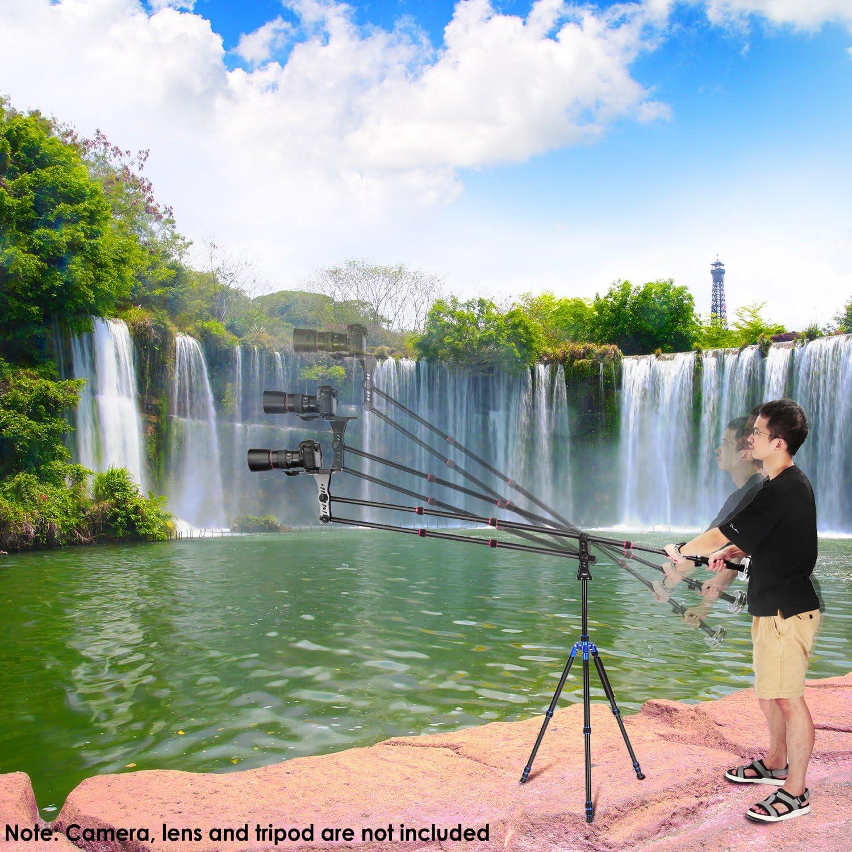 Gegengewicht f/ür DSLR Video Kameras Neewer 177 Zentimeter Aluminiumlegierungs Jib Arm Kamera Kran mit 1//4 und 3//8-Zoll Schnellwechselplatte, Lastung bis zu 8 kg