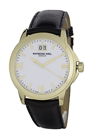 3fe27e14cd9 Amazon.com  Raymond Weil Men s 5476-P-00307 Tradition White Dial ...