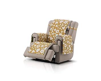 Agatha Ruiz de la Prada cubre sillón relax Fantasy, tamaño 1 plaza (55cm), color ocre