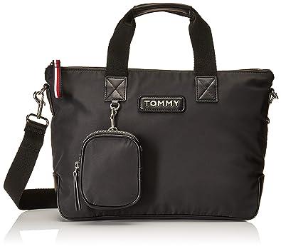 Tommy Hilfiger Varsity Nylon Small Tote Black: