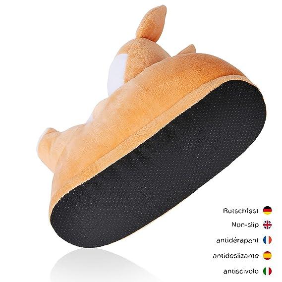 corimori- Akito el Perro Shiba Inu Zapatillas De Casa Mujer, Color beis, Talla Única 34-44 (1847): Amazon.es: Juguetes y juegos
