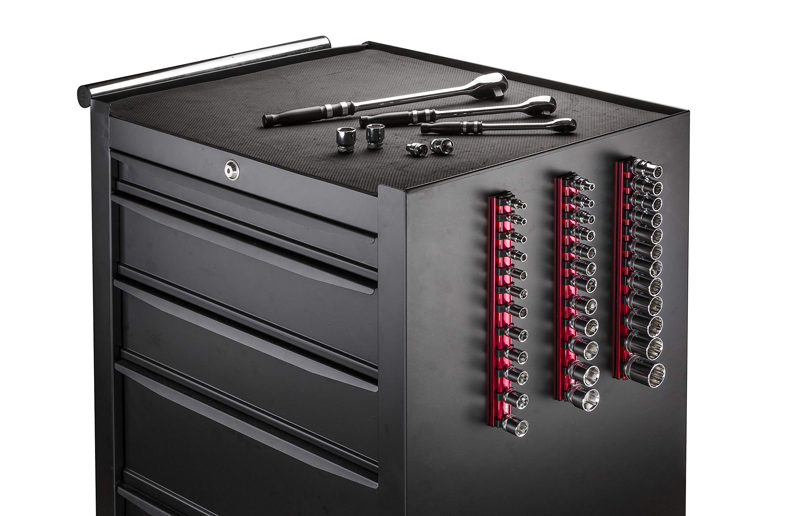 ARES 71181 | 3/8-Inch Drive Magnetic Socket Organizer | Aluminum Rail Stores up to 12 Sockets and Keeps Your Tool Box Organized by ARES (Image #7)