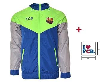 0702563cf7bf1 Licencia oficial del FC Barcelona chaqueta cortavientos para fútbol fútbol  cartucho adhesivo (azul