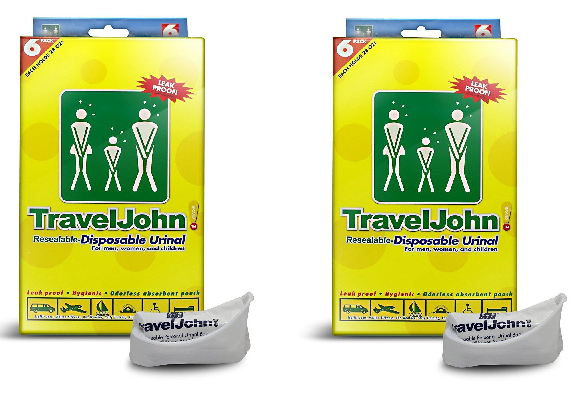 TravelJohn-Disposable Urinal (12 Disposable Bags)
