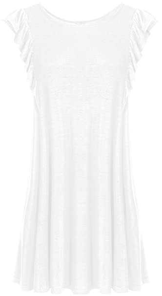 29599426ea4ab7 Simlu White Tunic Tops White Summer Top for Women to Wear with Leggings Reg  and Plus