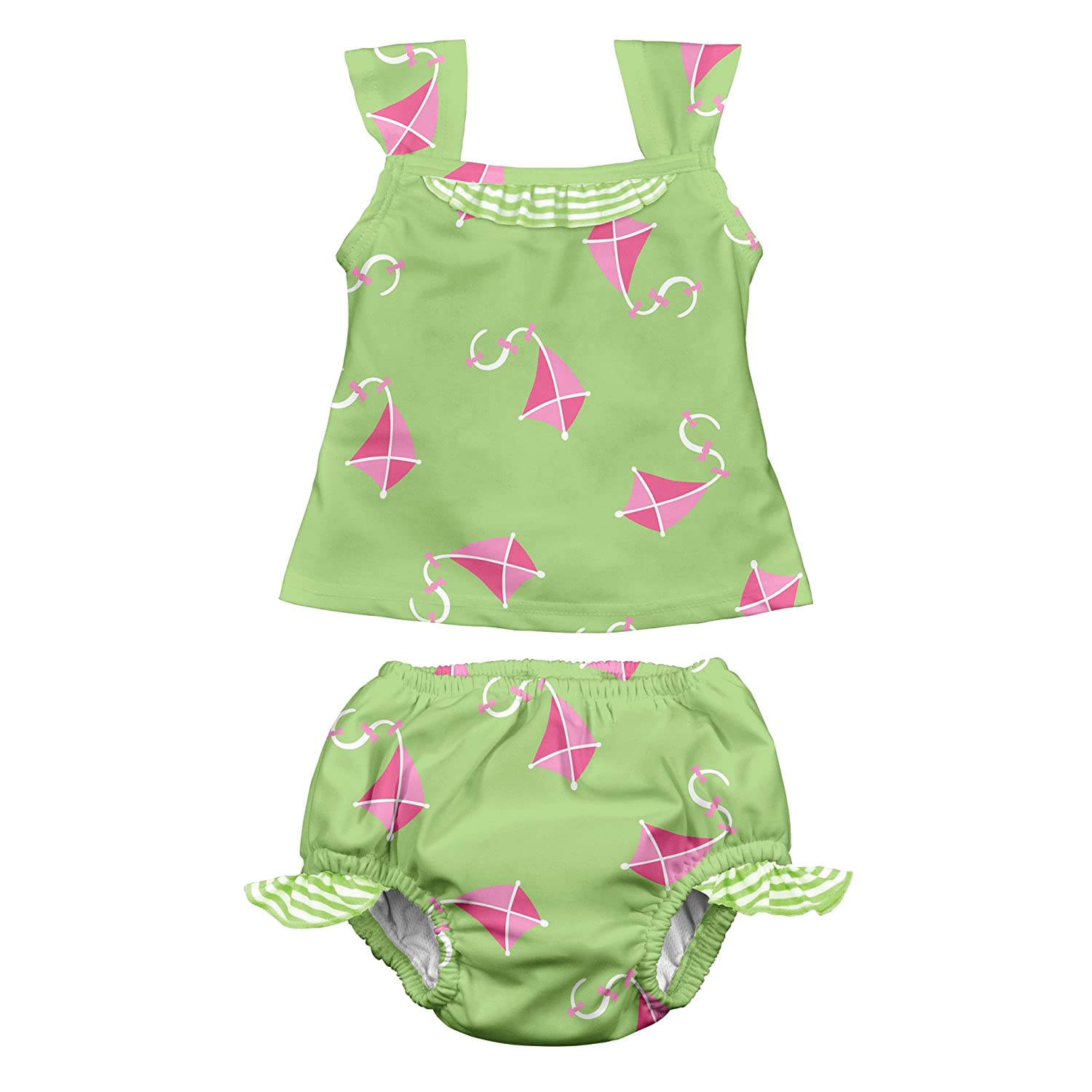 i play. Baby & Toddler Girls' Tankini Set with Built-In Absorbent Swim Diaper i play Children's Apparel