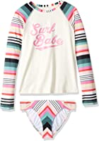 Billabong Big Girls' Sun Faded Long Sleeve Rashguard Swim Set