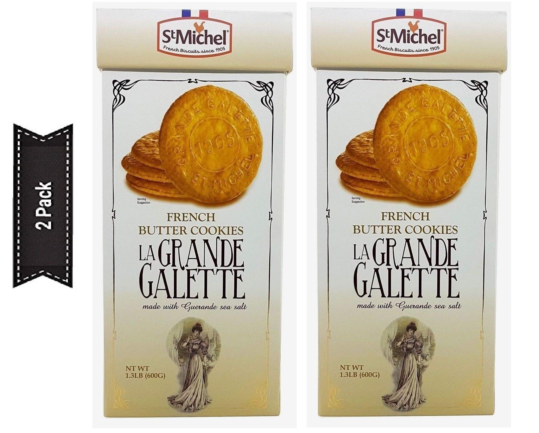 La Grande Galette French Butter Cookies - PACK OF 2 by LE CHEF PATISSIER (Image #1)