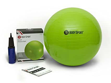 Exercise Ball With Pump (Green 55cm) - by BodySport - Strengthen Your Core  for 9bc516eb8284