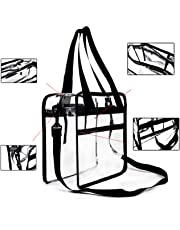 Youngever Clear Bag 12 X 12 X 6, Stadium Approved,Clear Tote Bag,Heavy Duty,Shoulder Straps and Zippered Top & Inside(1 Pack)