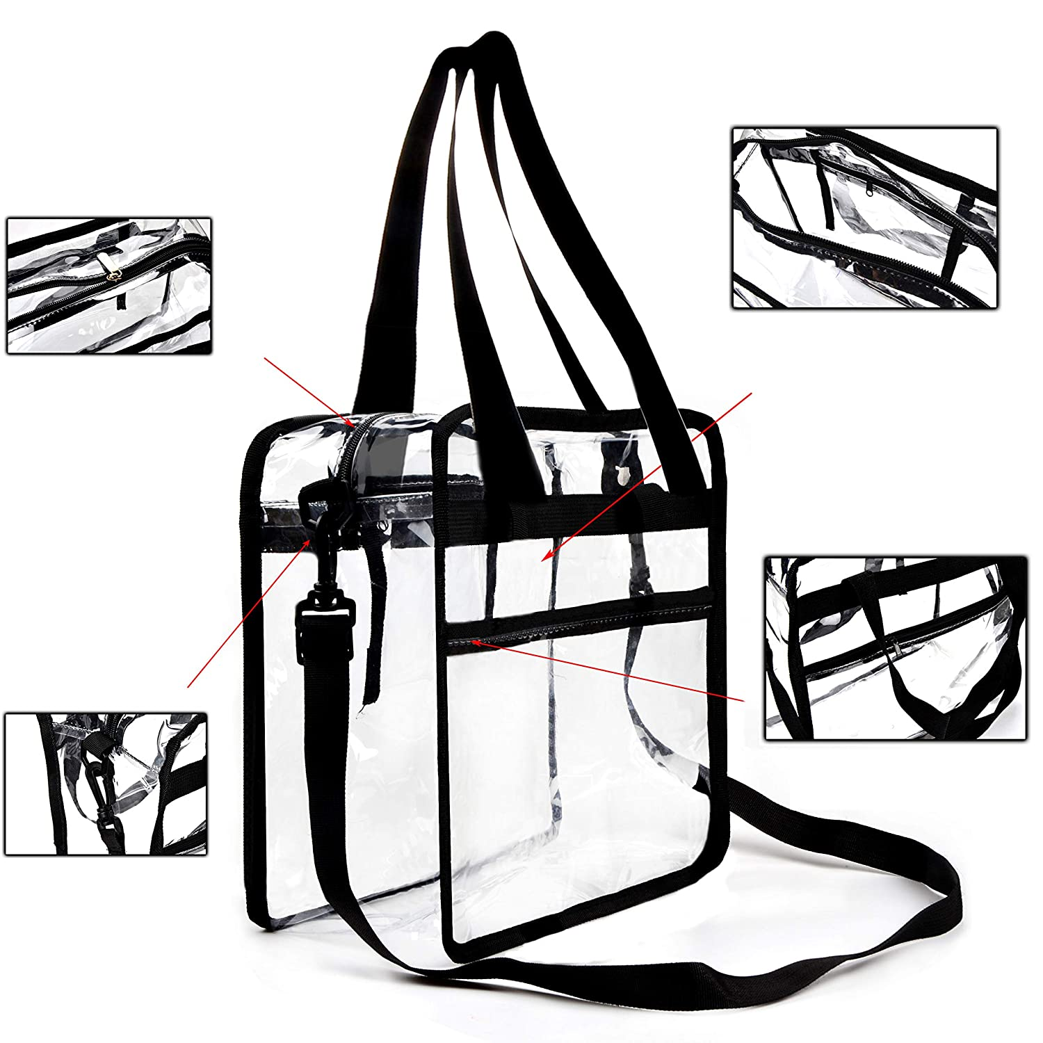 eff684410026 Amazon.com  Youngever Clear Bag 12 X 12 X 6