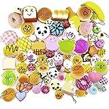 Beetest® 20 pz Mini Carina Squishy Soft Cibo Simulato Portachiavi / Panda Pane Torta Biscotto Telefono Catena Ciondolo Ornamenti Portachiavi, Stile Casuale