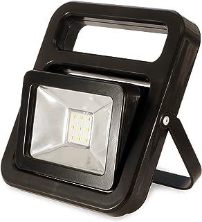 FeinTech LAL00120 Arbeits-Leuchte Akku-Baustrahler LED-Lampe kabellos USB 20 W 1400 Lm IP54, Schwarz