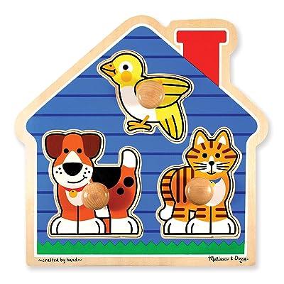 Melissa & Doug Pets Jumbo Knob Wooden Puzzle: Melissa & Doug: Toys & Games