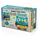Amazon Price History for:SadoCrafts Paint Your Own Bank - Fun Interactive Educational DIY Ceramic Owl Bank Craft Kit For Kids