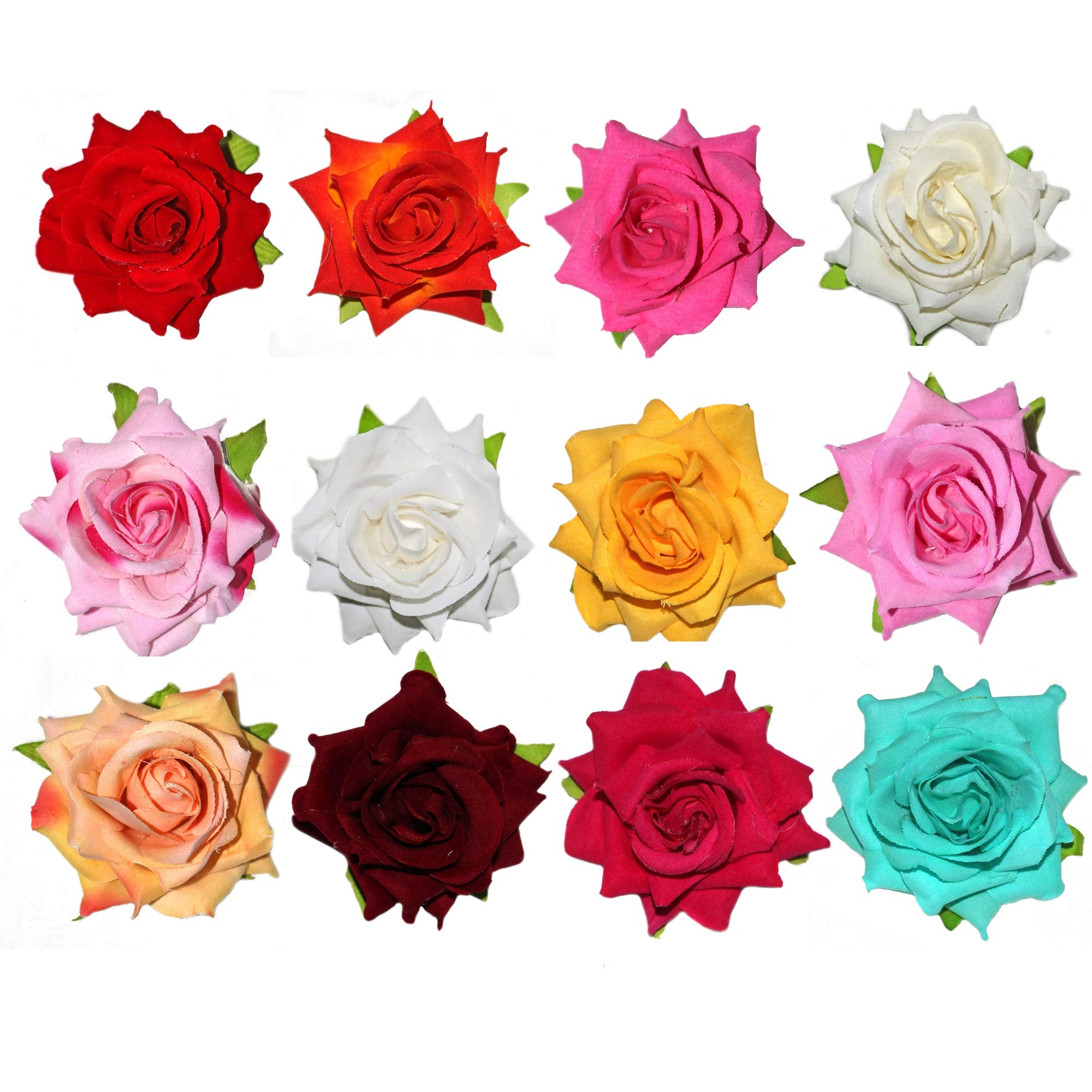 Paradise® Flower Hair Accessories For Women, Girls And Kids Girls Multi-Color Flower Hair Clips (Multi 12pc) (B07PFJ2JLS) Amazon Price History, Amazon Price Tracker