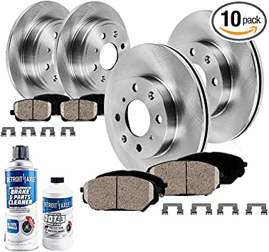 Front OE Disc Brake Rotors And Ceramic Pads For 2004-2009 Kia Spectra