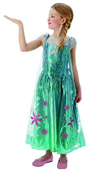 Elsa -Disney Frozen Fever - Childrens Fancy Dress Costume - Medium - 116cm  - Age 7028cd293