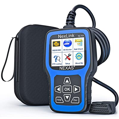 NEXAS NL101 OBD2 Scanner Check Engine Light Car Code Reader Automotive Diagnostic Tool Fault Code Scanner: Automotive