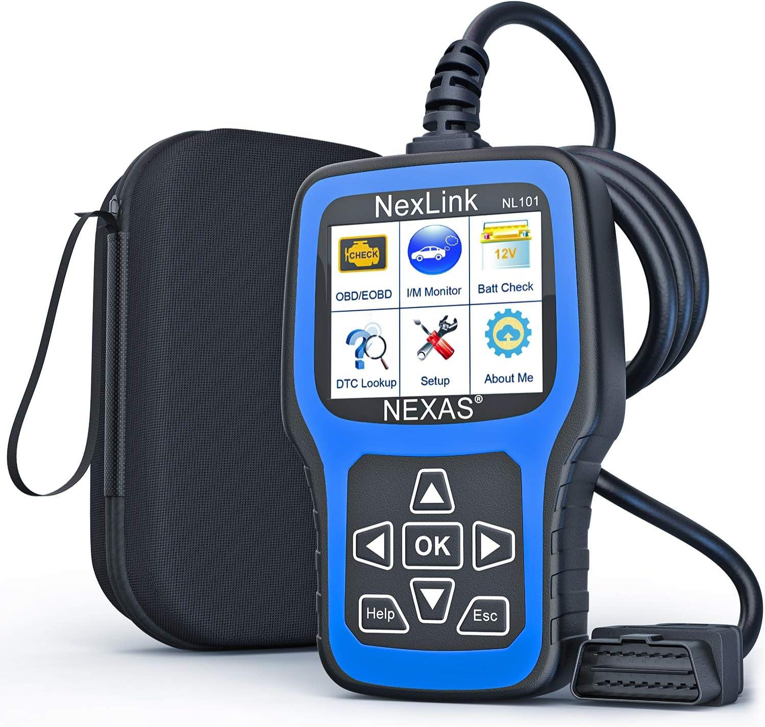 NEXAS NL101 OBD2 Scanner Check Engine Light Car Code Reader Automotive Diagnostic Tool Fault Code Scanner