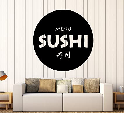 Buy Restaurant Japanese Food Business Sushi Store Wall Art Decor Vinyl Sticker Z633 Online At Low Prices In India Amazon In