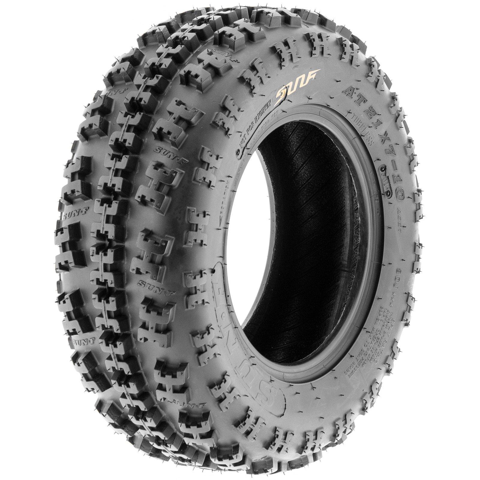 SunF A027 XC ATV UTV Knobby Sport Tire 19x7-8, 6 PR, Tubeless