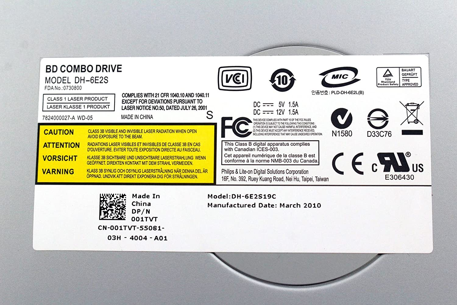 Dell Inspiron 560 PLDS DH-6E2S Drivers Download Free