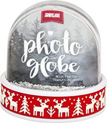 Shot2go Photo Snowglobe Reindeer - holds 2 photos