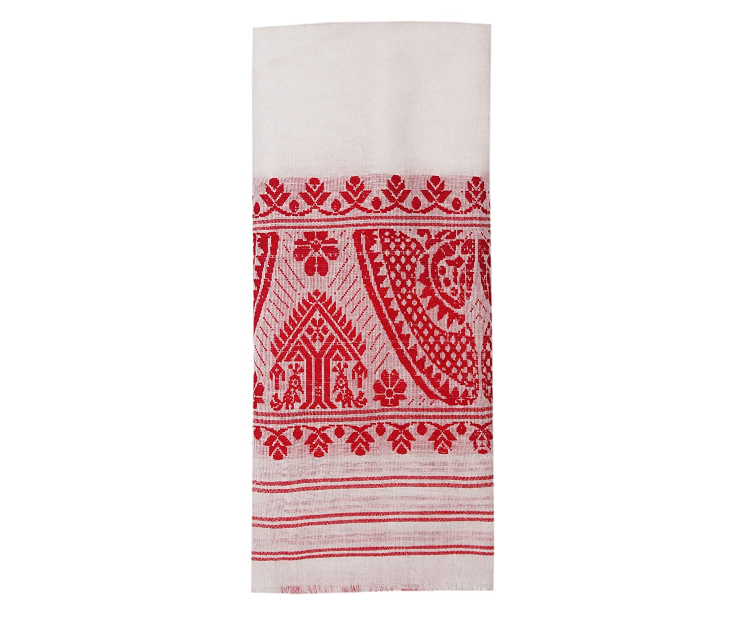 "Epic Store, Assamese Traditiona Gamosa 50"" * 25"" Pure Handloom Product Cotton Gamosa, Pack of 1"