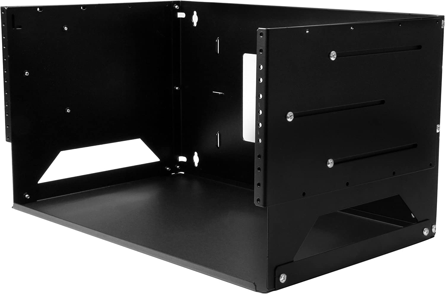 "StarTech.com 4U Open Frame Wall Mount Network Rack w/ Built in Shelf - 2-Post Adjustable Depth (12"" to 18"") Equipment Rack - 75.2lbs (WALLSHELF4U)"