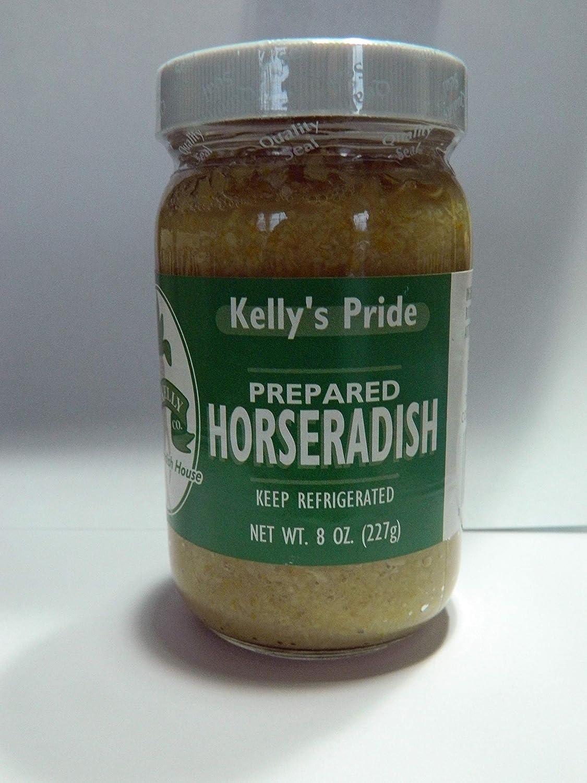 Prepared Horseradish, Kelly Pride, 8 oz, Made from 100 percent fresh grated horseradish roots