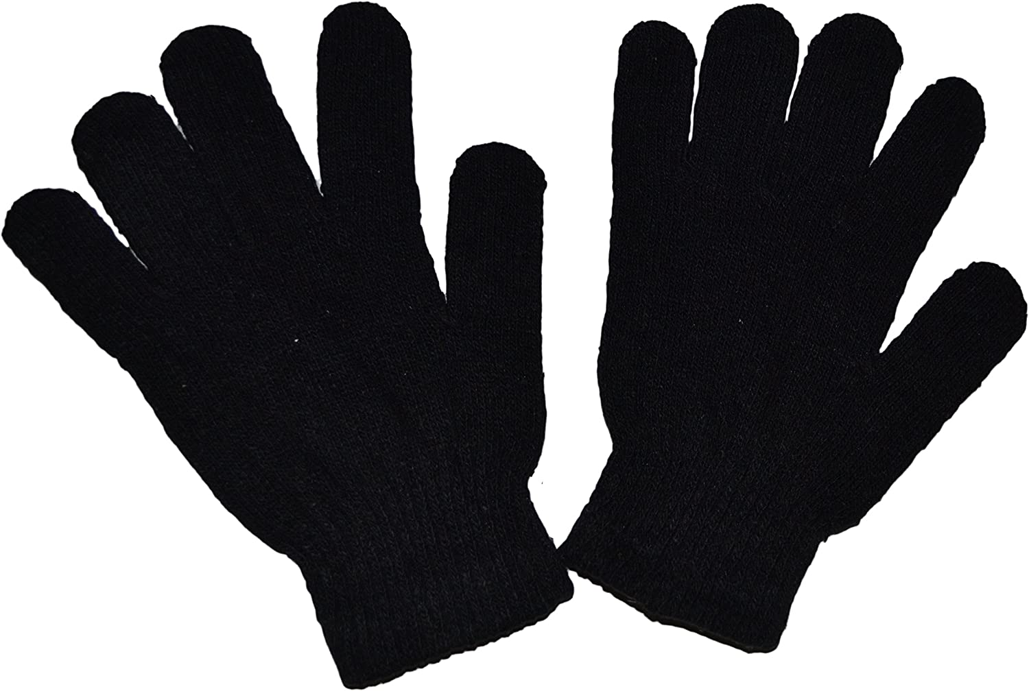 ONE SIZE FITS ALL ONE PAIR BLACK ACRYLIC MAGIC GLOVES