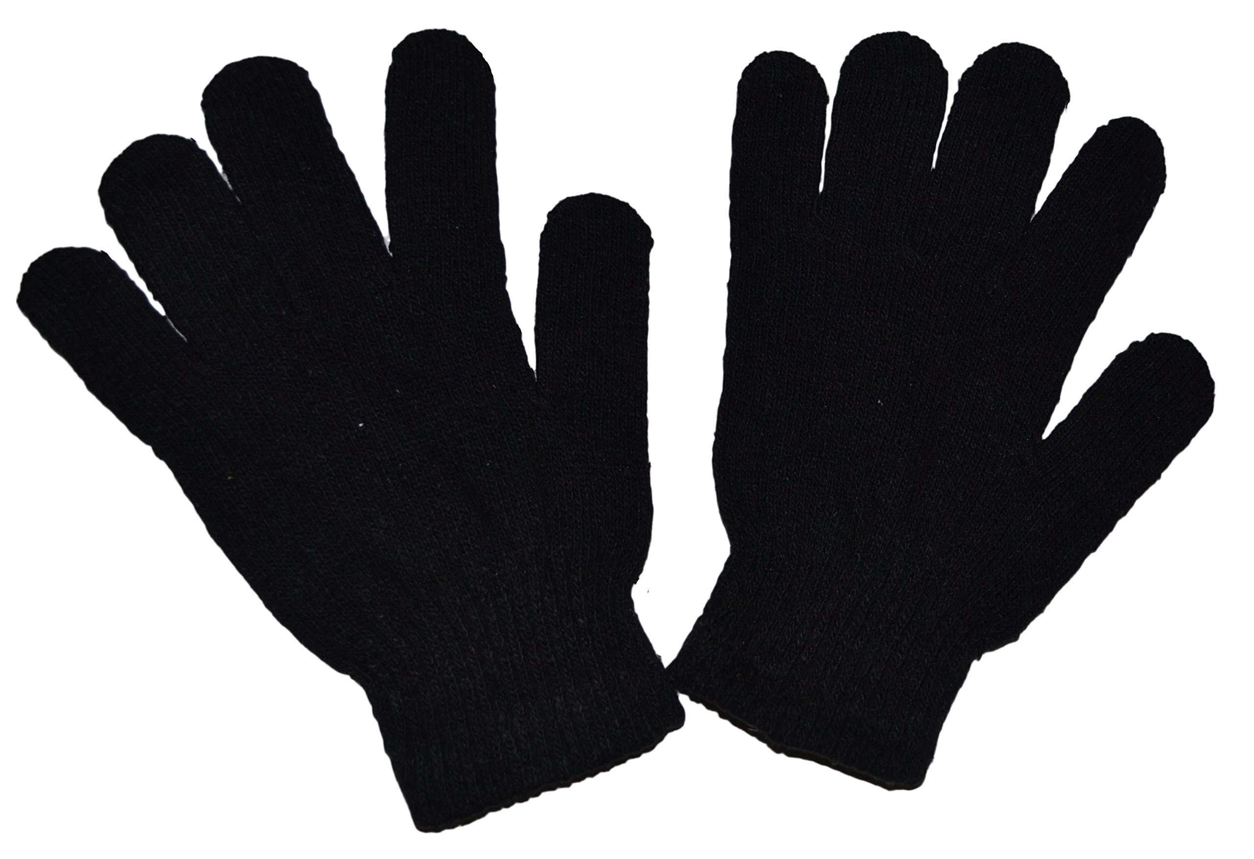 OPT Brand. 12 Pairs Magic Knit Gloves Stretch Winter Warm Plain Gloves One Size Fits Most Wholesale Lot. From New York. USA Trademark Registered: 86522969.