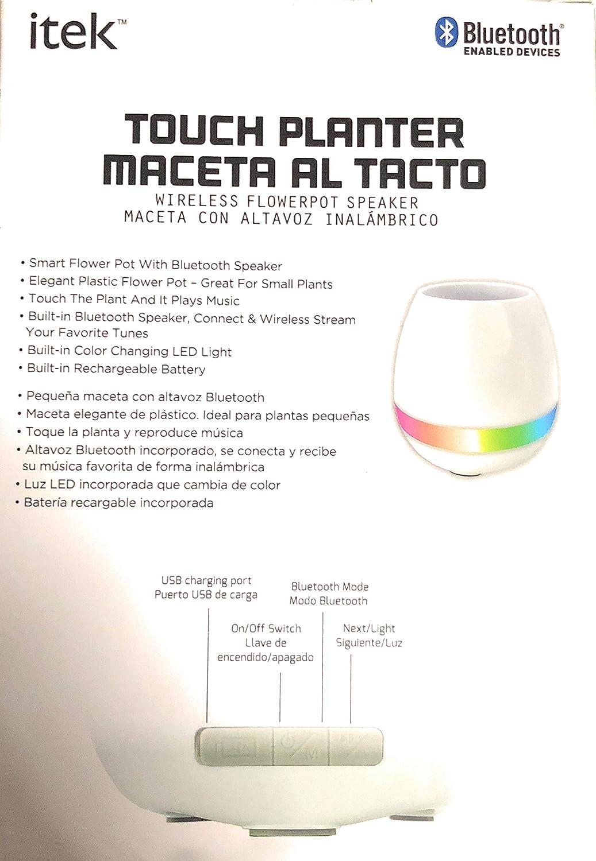 Amazon.com: Itek Touch Planter Wireless Flowerpot Speaker: Home Audio & Theater