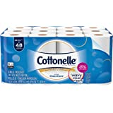 Cottonelle Ultra Cleancare Toilet Paper, Strong Bath Tissue, 24 Double Rolls