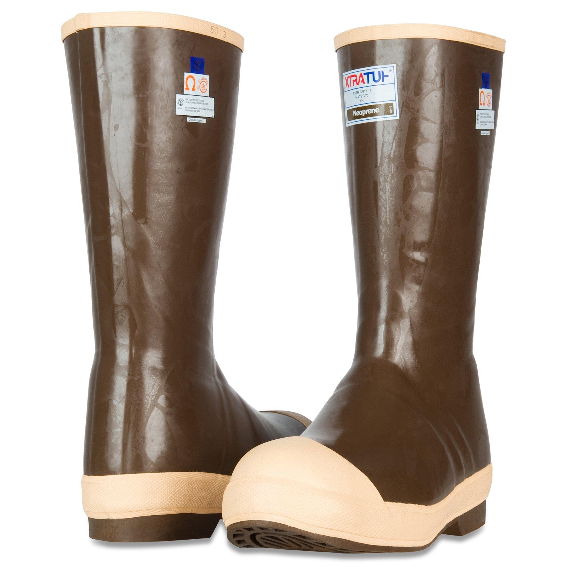 XTRATUF Legacy Series 15'' Neoprene Steel Toe Insulated Men's Fishing Boots, Copper & Tan (22273G) by Xtratuf (Image #6)