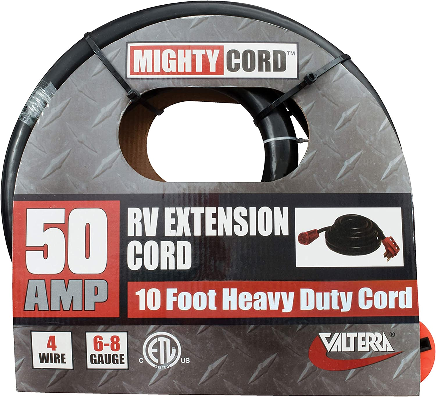 Valterra A10-5010EH Mighty Cord 50Amp RV Trailer Extension Cord with Handle 10ft