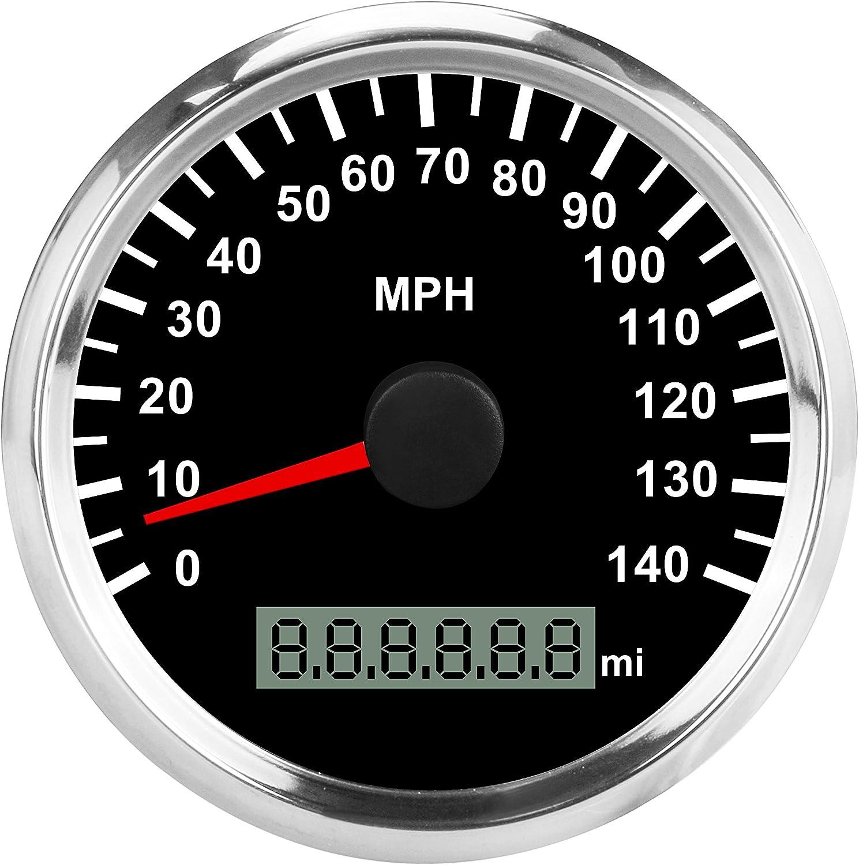 Car Speedometers 85mm 140MPH GPS Speedometers Gauge Waterproof For ...