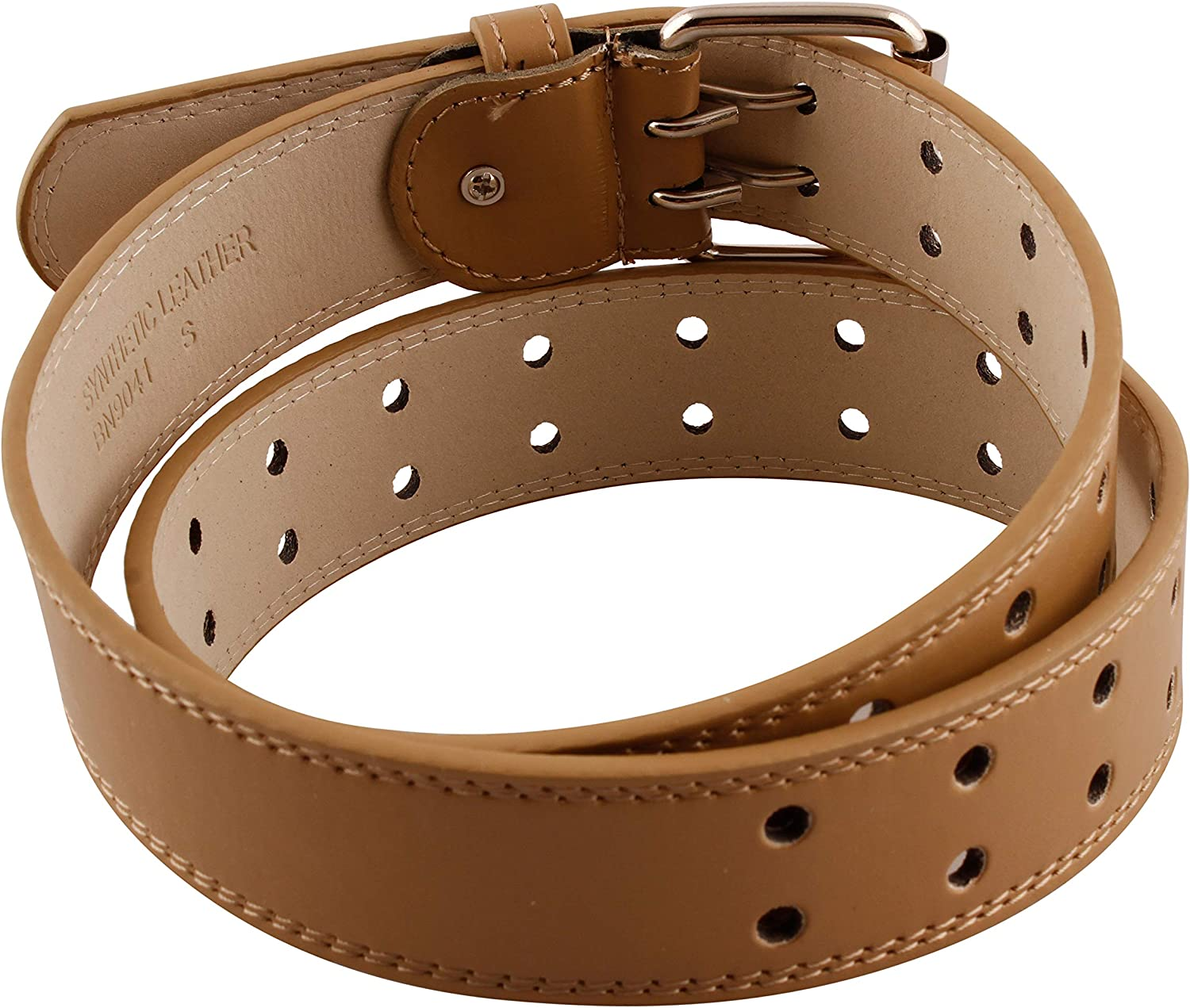 Unisex Two-Hole Genuine Leather Belt Up to 4XL Available GL083