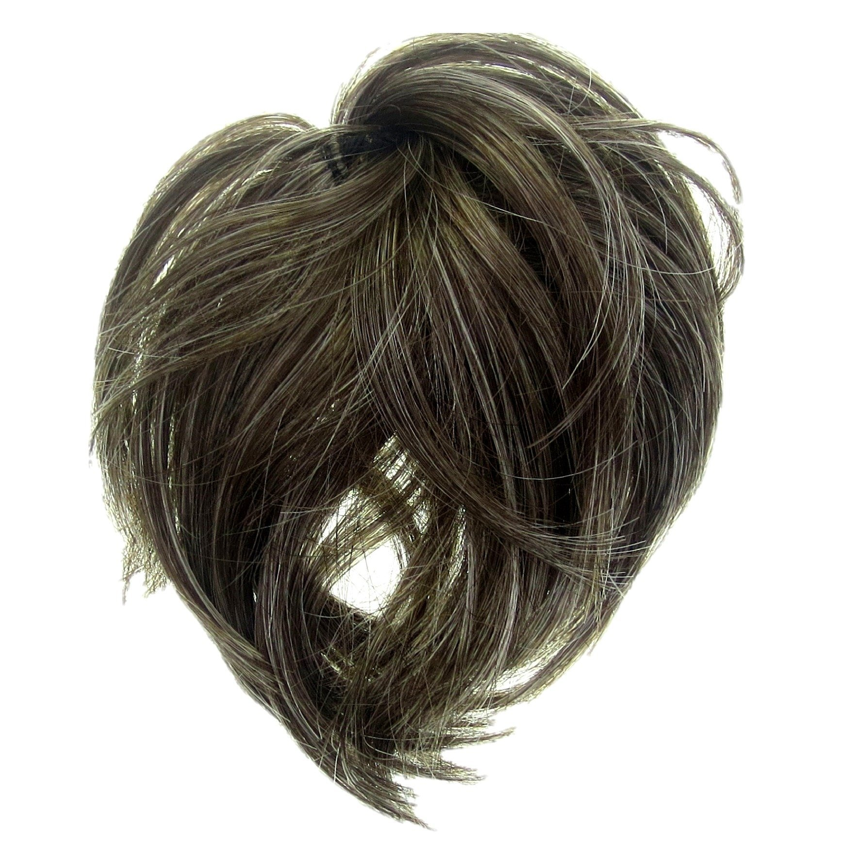 Amazon New Style Scrunchie Hair Extension Curly Up Do Brown