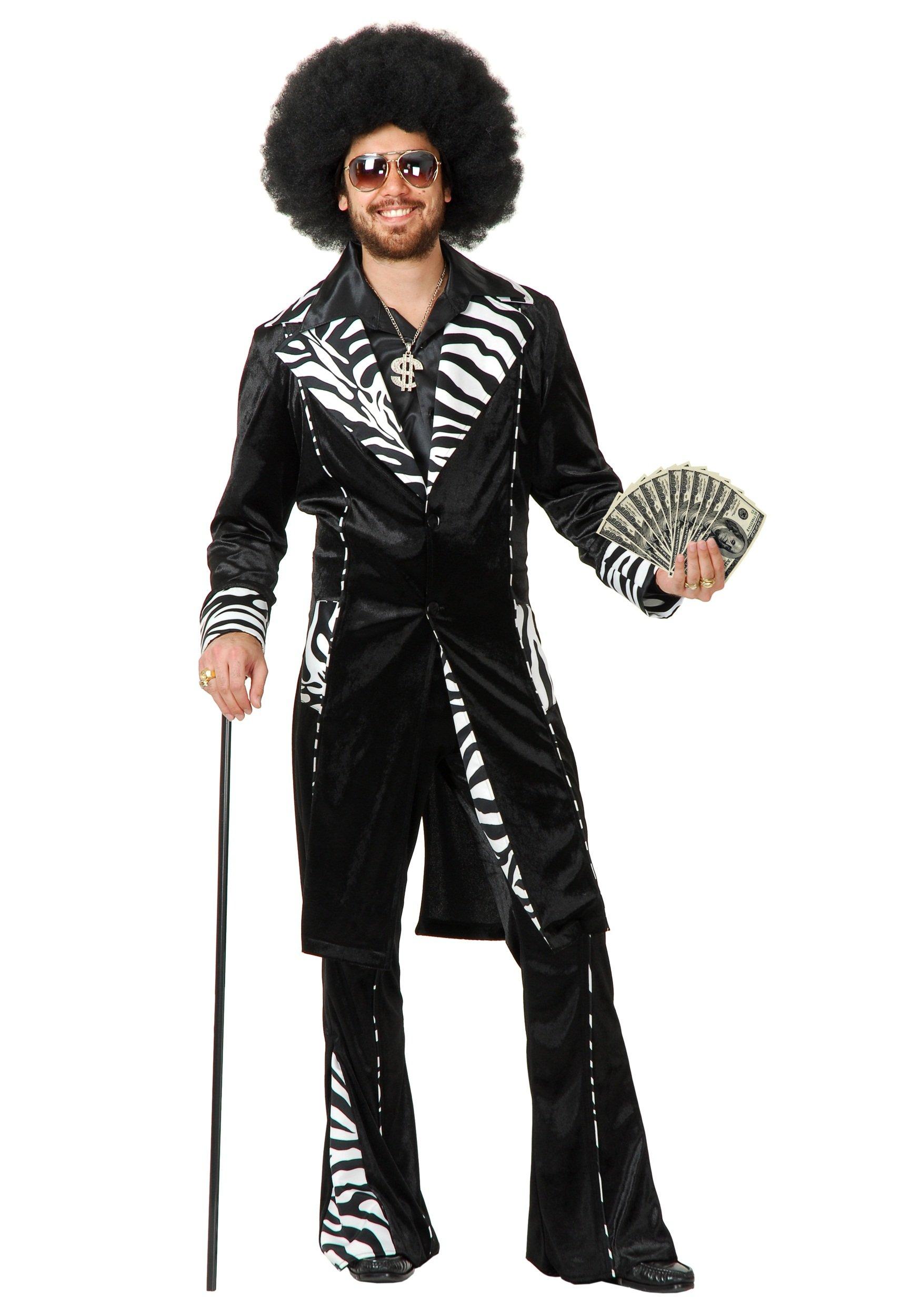 Charades Funny Mens Pimp Daddy Ho Gigolo Halloween Costume L