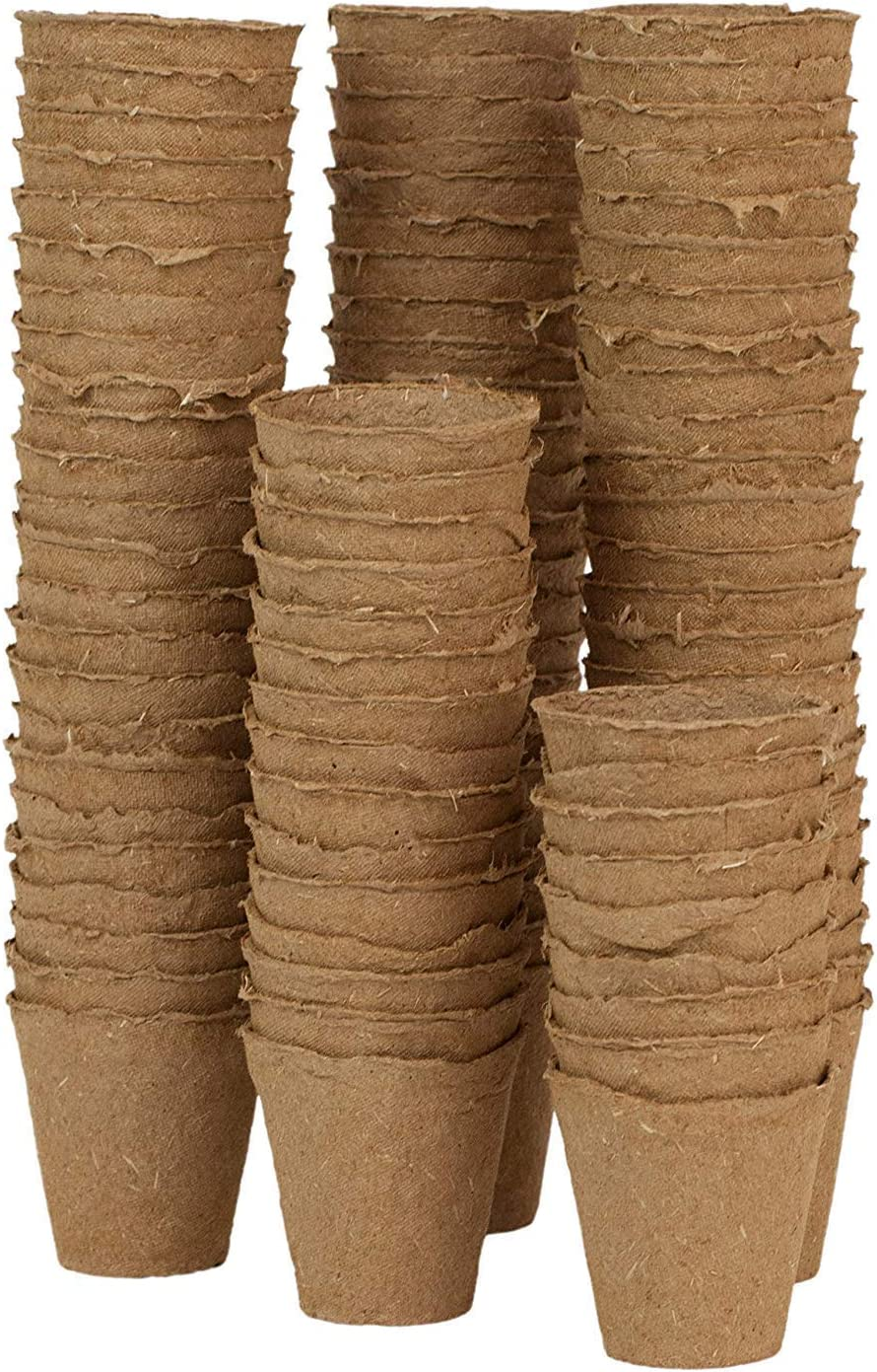 WARKHOME Semilleros Biodegradables Redondos,Macetas de Fibra (96 Unidades, Forma Redonda,6 cm)
