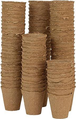 Vaso in Torba Biodegradabile Rotondo per Germinazione Coltivazione Indoor